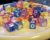 Destash- Alphabet Pastel Luster Beads