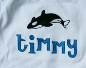 SHAMU ORCA WHALE T-Shirt Personalized Boutique Custom Appliqued