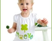 ST PATRICK'S DAY Clover T-Shirt Appliqued Personalized Boutique Custom