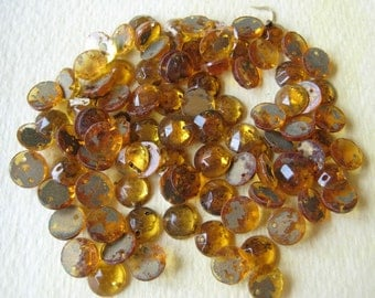 Vintage Glass jewelry Trims - Amber Jewels