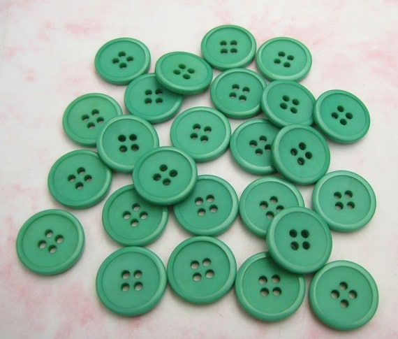 RESERVED for marieke - Green Plastic Buttons