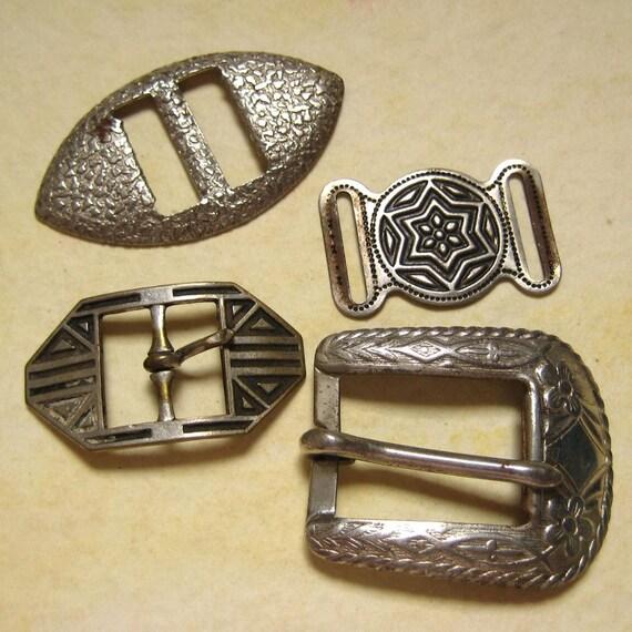 Vintage Metal Buckles - Silver