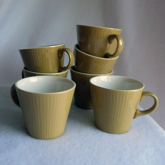 Items Similar To Caramel Coffee Mugs Vintage Simple Modern