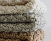 Shades of au naturel Collection Organic Cotton Crochet Washcloths