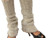 Upcycled Leg Warmers Repurposed Sweater Natural Oatmeal