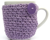 Cup Cozy Crochet Coffee Cup Cozies Pick your Color lavender purple