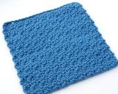 Crochet Cotton Dishcloth Sample You Pick The Color