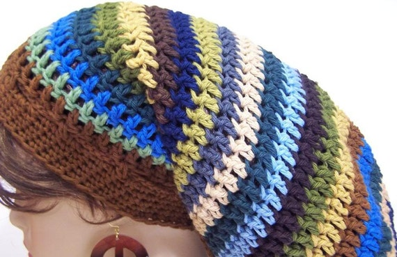 Slouchy Beanie Crochet Hippie Dreads Tam - You pick the Colors