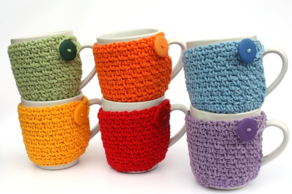 Coffee Cup Cozy Crochet Cup Sleeve You Pick the Color