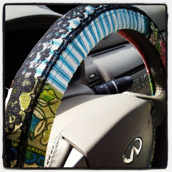 Hold for Celeste:  Hippie Chick Steering Wheel Cover by Whoopsie Daisies on Etsy