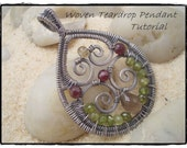 Woven Teardrop Pendant Tutorial---Step by Step Instruction