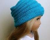 "Sophie - PDF Knitting Pattern For 18"" American Girl Doll Slouchy Hat - Doll Clothes Pattern - Instant Download"
