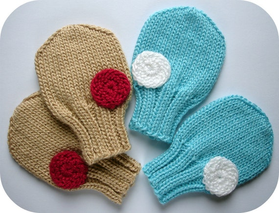 Knitting Pattern PDF -  Pat-a-cake Baby Mittens In Sizes 0 - 3 months, 3 - 6 months, 6 -12 months - Baby Clothes Pattern - Instant Download