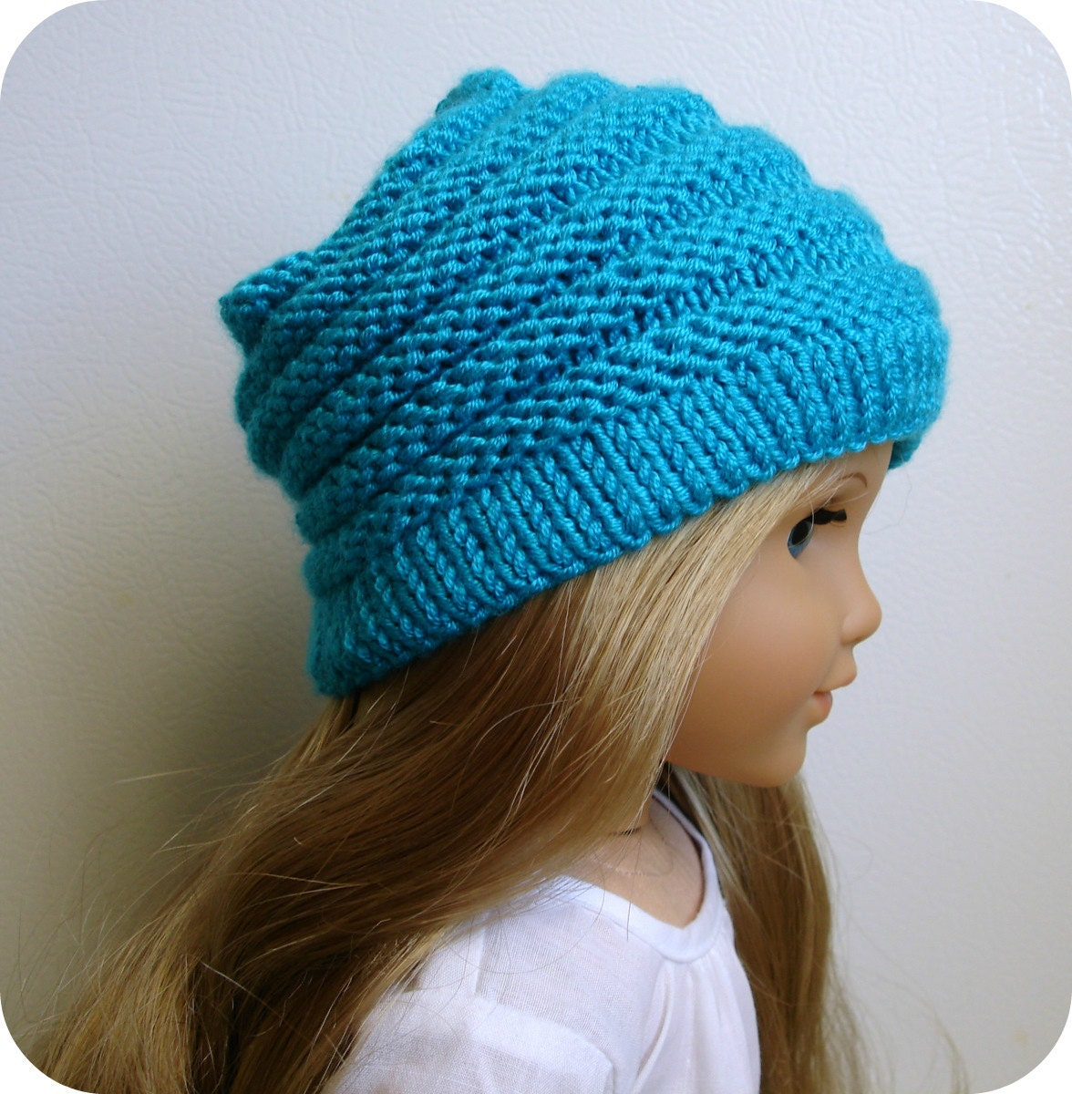 Knitting Pattern Dolls Hat : Sophie PDF Knitting Pattern For 18 American Girl Doll