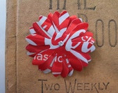 Upcycled Coca-Cola Aluminum Can Flower as a Brooch\/Pin, Barrette, Hairpin, or Magnet