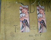 Art for Your Ears Mucha Flower Image Earrings