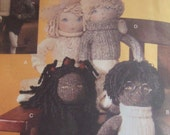 OOP linda carr SOCK DOLL PATTERN vogue craft 7535 pattern for handmade doll toy