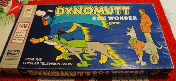 Dynomutt Dog Wonder board game 1977 Milton Bradley/Hanna Barbera vintage