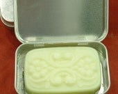 Celestial Solid Lotion Bar in a Silver Metal Tin