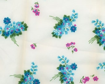 Vintage Forget-Me-Not Floral Fabric