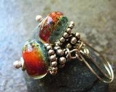 Lampwork Glass Boro Bead Earrings