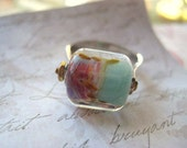 lampwork ring sterling silver tt team