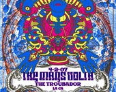 The Mars Volta Silk Screen Print Psychedelic Egyptian Trippy - Troubadour Poster - Etsy