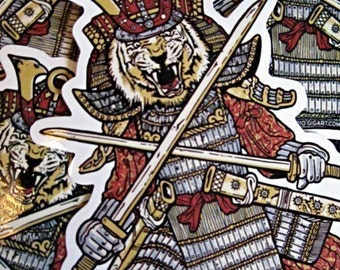 Samurai Die Cut Vinyl Sticker Asian Japanese Crossed Swords - Etsy
