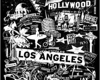 Hollywood West Coast Los Angele Surf Malibu Art Print Poster Wall Decor - Etsy