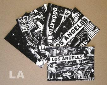 Los Angeles 5 Pack Silk Screened Post Cards Hollywood Malibu West Coast Surf - Etsy