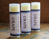 Grape Lip Balm - One Tube Beeswax Shea Cocoa Butter Jojoba