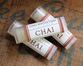 Chai Lip Balm - One Tube Beeswax Shea Cocoa Butter Jojoba