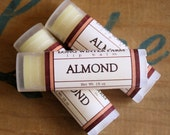 Almond Lip Balm - One Tube Beeswax Shea Cocoa Butter Jojoba