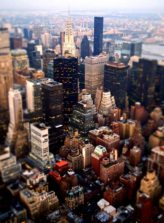 Bright City - New York City View -8x12 Metallic Photo