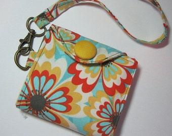 Women's Wristlet Wallet Cabana Blooms