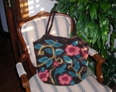 Brown Coral and Turquoise Tapestry Bag For Artist Exposed by Never Felt Better