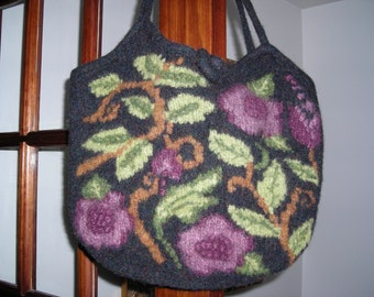 Black Green and Berry Tapestry Bag by Never Felt Better