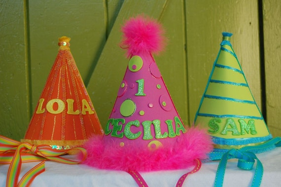 Custom Childs Fanciful Birthday Party Celebration Hat