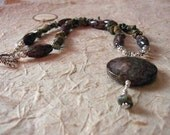 SALE  Shelly..... Neutral tones Necklace