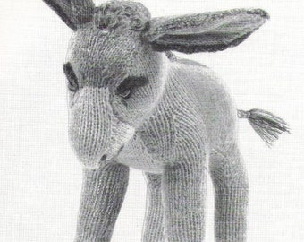 VIintage Donkey Knitting Pattern PDF Instant download