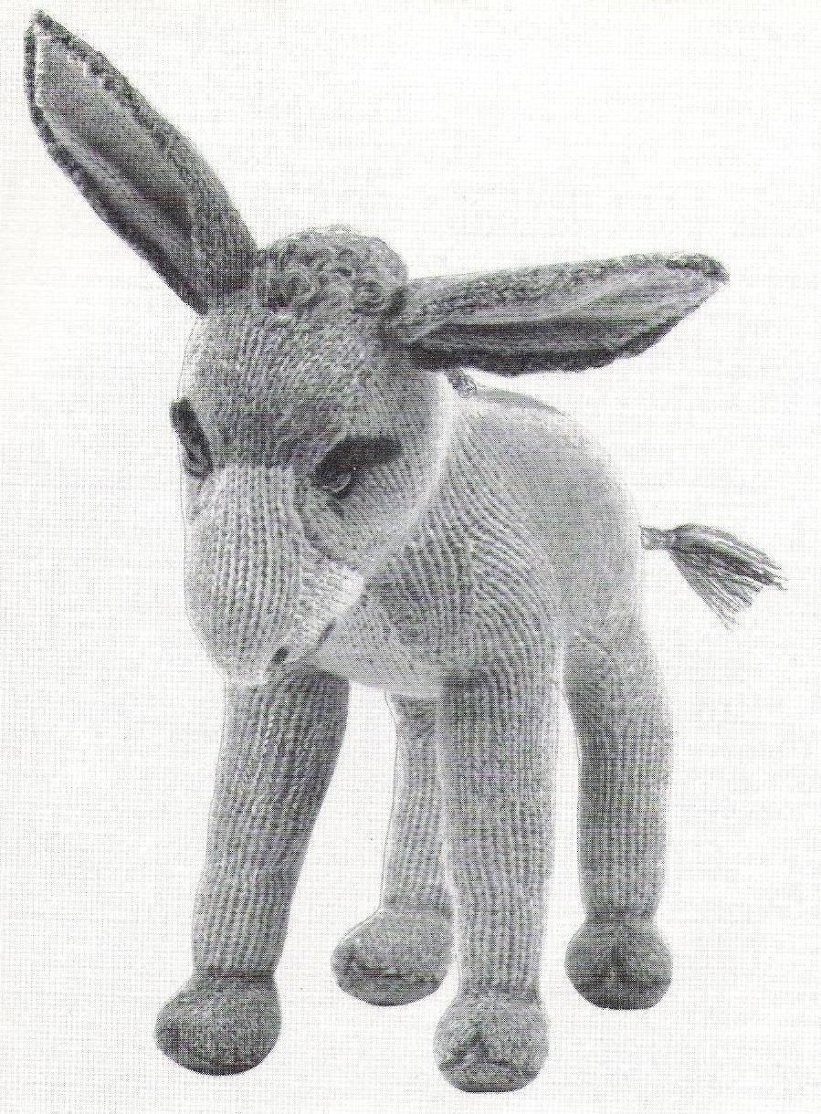 Free Dk Baby Knitting Patterns : VIintage Donkey Knitting Pattern PDF Instant download