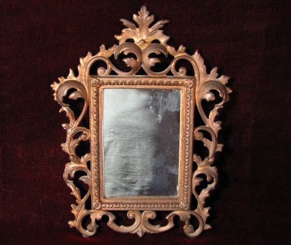 Items Similar To Ornate Mirror Antique Victorian Brass
