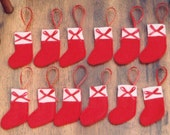 Mini Christmas Stocking Ornament Set