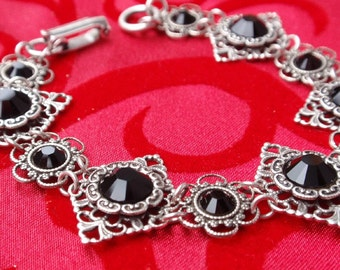 An Evening at the Opera- Antiqued Silver Renaissance Style Bracelet