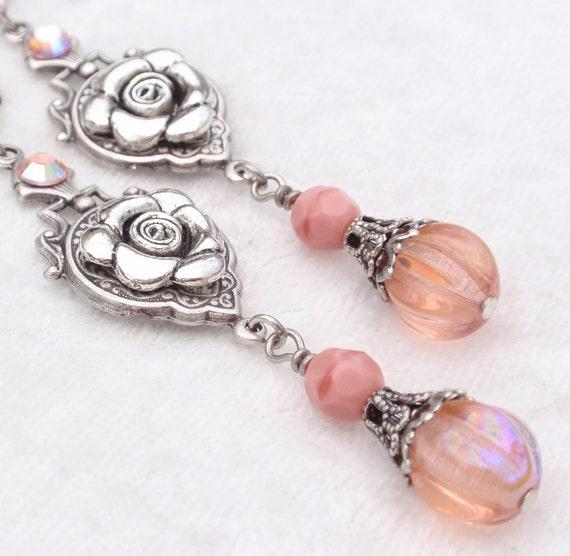 Victorian Rose Earrings (E-093)