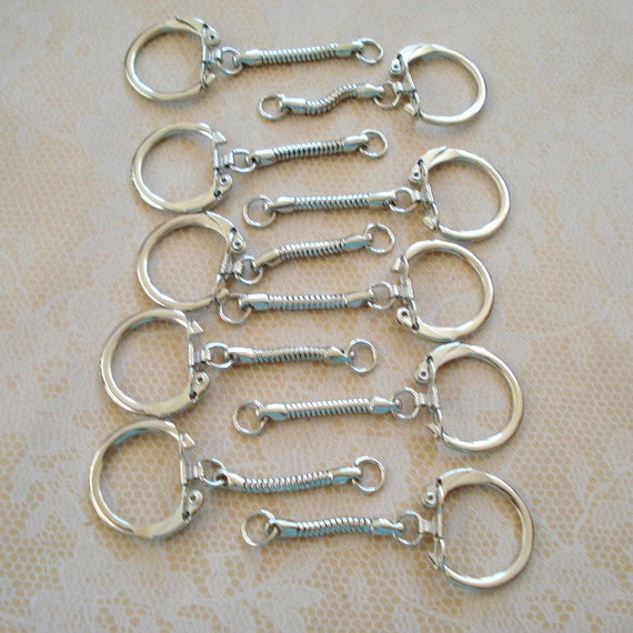 10 Keyrings With Snake Chain