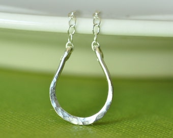 Lucky Horseshoe hand forged sterling silver necklace
