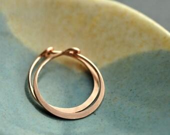 MINI (5/8 inch -16mm) 14K Rose Gold Filled hoop earrings