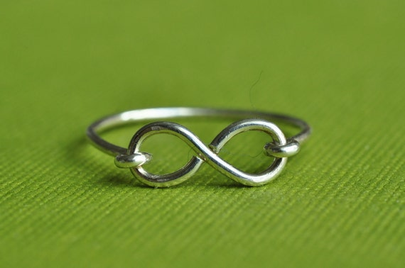 Infinity Ring - sterling silver or gold filled