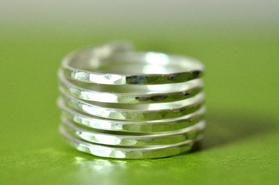 THICK BAND SIMPLICITY (closed band) wide adjustable wire wrap ring textured - sterling silver - custom sized- thumb ring